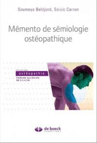 Mémento de sémiologie appliquée à l'ostéopathie