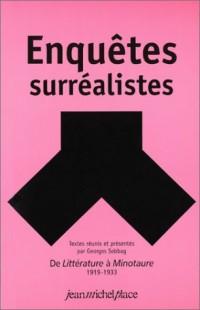 Enquêtes surréalistes : De Littérature à Minotaure, 1919-1933