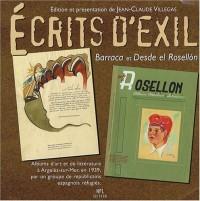 Ecrits d'exil : Barraca et Desde el Rosellon