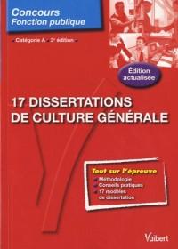 17 Dissertations de culture générale - entrainement aux épreuves - catégorie A - N°109