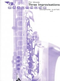 Partition classique ADVANCE MUSIC WOODS P. - THREE IMPROVISATIONS - 4 SAXOPHONES (SATB) Basson