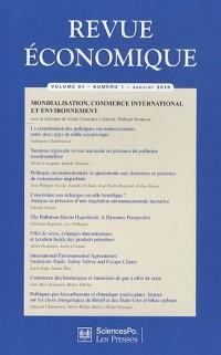 Revue économique, N° 6, Volume 61 : Mondialisation, commerce international et environnement