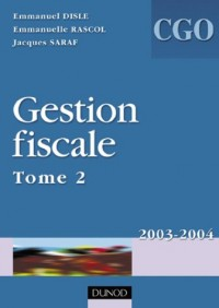 Gestion fiscale, processus 3, tome 2 : Manuel