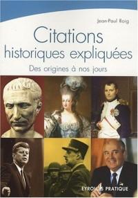Citations historiques expliquées