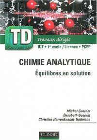 TD de chimie analytique : Équilibres en solutions