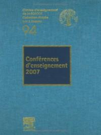 Conférences d'enseignement 2007
