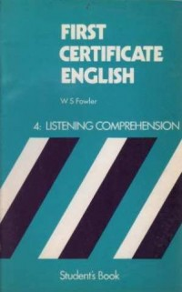 First Certificate English: Bk. 4: listening comprehension