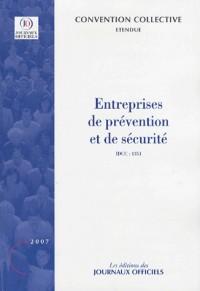 Entreprises de prévention et de sécurité