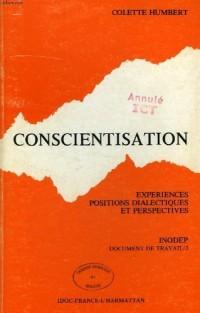 Conscientisation : Expériences, positions dialectiques et perspectives (Document de travail)