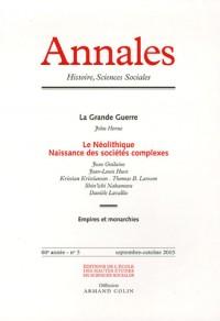 Annales. histoire, sciences sociales - vol. 60  (5/2005)