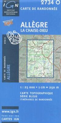 Allegre / La Chaise-Dieu GPS: Ign2734o