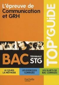 L'épreuve de communication et GRH bac terminale STG