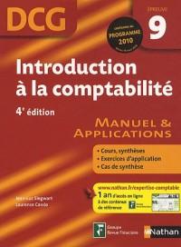 DCG Épreuve 9 : Introduction à la comptabilité - Manuel et Applications