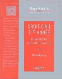 Droit civil, 1ère année : Introduction - Personnes - Famille