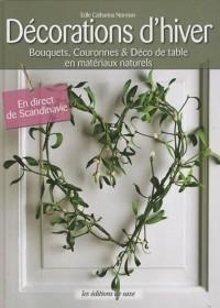 Décoration d'hiver : Bouquets, couronnes et déco de table en matériaux naturels