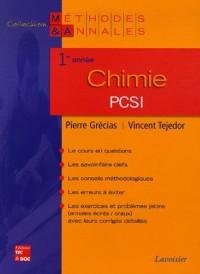 Chimie PCSI 1e année