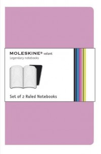 Carnet Volant ligné - Format de poche - Set de 2 pièces - Rose - Couverture souple - 9 x 14 cm