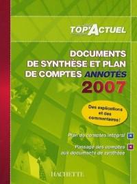 Documents de synthèse et plan de comptes annotés