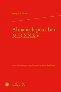 Almanach pour l'an M.D.XXXV