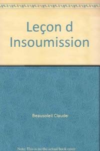 Leçon d Insoumission