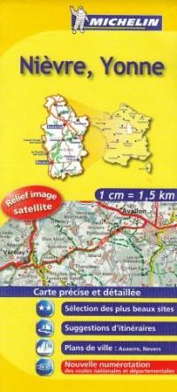 Nièvre, Yonne : 1/150 000