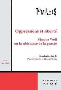 Tumultes N45.Simone Weil Ou la Resistance de la Pensee