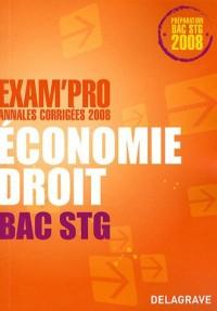 Economie Droit Bac STG : Annales corrigées