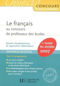 Le français au concours de professeur des écoles
