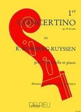 Concertino, n°1 Op. 38 en Mi mineur pour violoncelle et piano