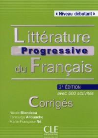 Corriges Litterature Progressive du Français Niveau Intermediaire