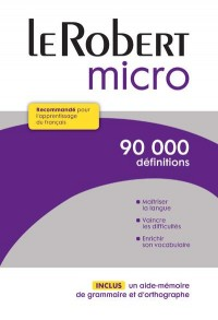 Dictionnaire Le Robert Micro