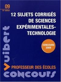12 sujets corrigés de sciences expérimentales-technologie