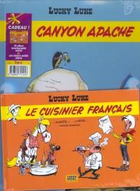 Lucky Luke, 2 BD pour le prix d'une : Canyon Apache - Le Cuisinier français (gratuit)