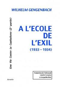 A l'Ecole de l'Exil (1933-1934)