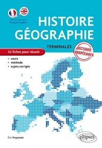 Histoire Géographie Terminales Sections Européennes 32 Fiches pour Réussir Cours Méthode Sujets Corrigés
