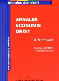 Annales Economie-Droit BTS Tertiaires