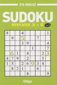 Sudoku : Volume 6, Niveaux 3 à 6