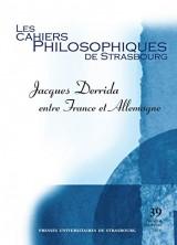 Jacques Derrida: entre France et Allemagne