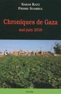 Chroniques de Gaza Mai-Juin 2016