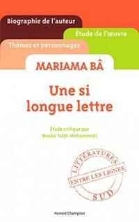 Une si longue lettre de Mariama Ba