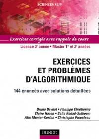 Exercices et problèmes d'algorithmique : 144 énoncés avec solutions détaillées