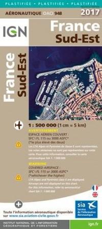 Oaci948 France Sud-Est Plastifiee 2017 1/500.000