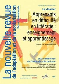 Revue NRAS n°76. Apprenants en difficulté en litteratie : enseignement et apprentissage