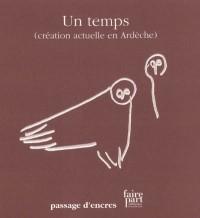 Faire part : Un temps (création actuelle en Ardèche)