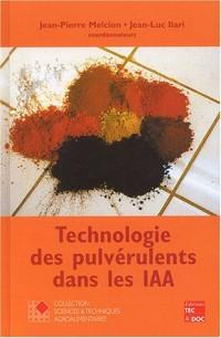 Technologie des pulvérulents dans les IAA
