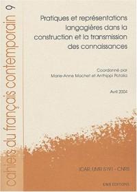 Cahiers du français contemporain, N° 9 : Pratiques et représentations langagières dans la construction et la transmission des connaissances