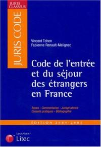 Juris classeur, édition 2004 : Code de l'entrée et du séjour des étrangers en France (ancienne édition)