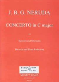 Partitions classique MUSICA RARA NERUDA JAN KRTITEL JIRI - CONCERTO IN C - BASSOON, PIANO Basson