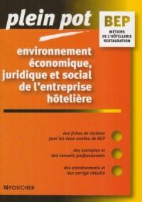 Environnement économique, juridique et social de l'entreprise hôtelière BEP Métiers de la restauration et de l'hôtellerie