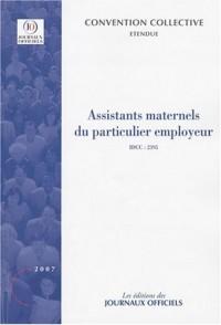 Assistants maternels du particulier employeur, convention collective